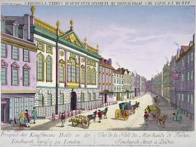 The New Ironmongers Hall in Fenchurch Street, City of London, 1750-George Godofroid Winkler-Giclee Print