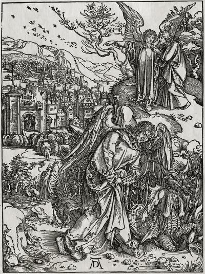 The New Jerusalem and the Bottomless Pit-Albrecht D?rer-Giclee Print