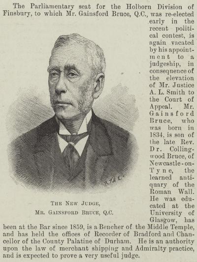 The New Judge, Mr Gainsford Bruce--Giclee Print