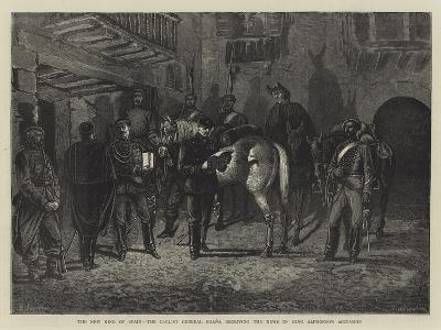 The New King of Spain, the Carlist General Egana Receiving the News of King Alphonso's Accession--Giclee Print