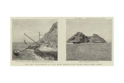 The New Lighthouse at Gap Rock, Thirty-Four Miles from Hong Kong--Giclee Print