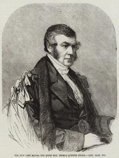 The New Lord Mayor, the Right Honourable Thomas Quested Finnis--Giclee Print