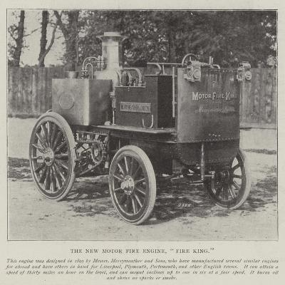 The New Motor Fire Engine, Fire King--Giclee Print