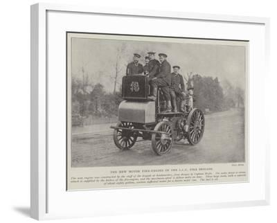 The New Motor Fire-Engine of the LCC Fire Brigade--Framed Giclee Print