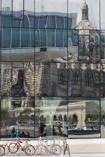 The New Mucem Gallery in Marseille with the Cathedral Reflected in the Glass, Provence, France-Martin Child-Photographic Print