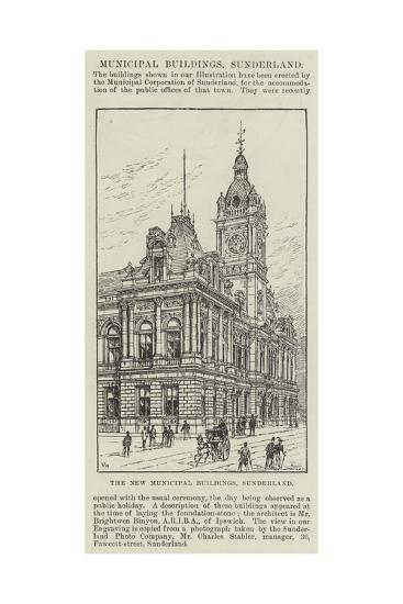 The New Municipal Buildings, Sunderland-Frank Watkins-Giclee Print