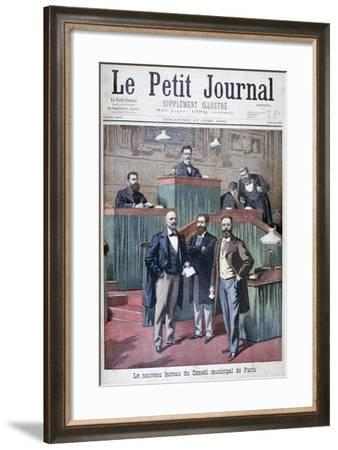 The New Municipal Council of Paris, 1900-Eugene Damblans-Framed Giclee Print