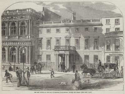 The New Office of the War Department (Buckingham House), Pall-Mall--Giclee Print