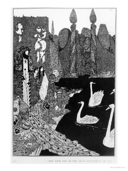 "The New One is the Most Beautiful of All, Illustration for ""The Ugly Duckling""-Harry Clarke-Giclee Print"