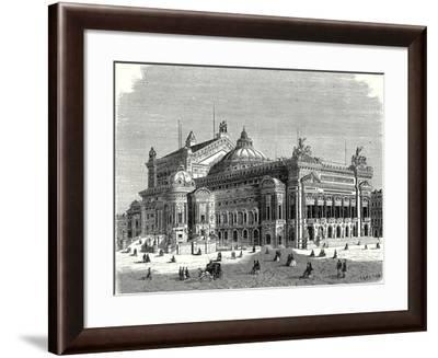 The New Opera in Paris and its Lightning Rods--Framed Giclee Print