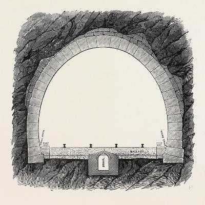 The New Overland Route to India and the Railway Tunnel of the Alps--Giclee Print