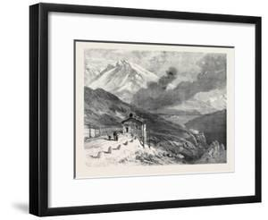 The New Overland Route to India: the Railway over the Alps Summit of Mont Cenis and Lake 1869