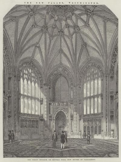 The New Palace, Westminster, the Great Octagon, or Central Hall, New Houses of Parliament--Giclee Print