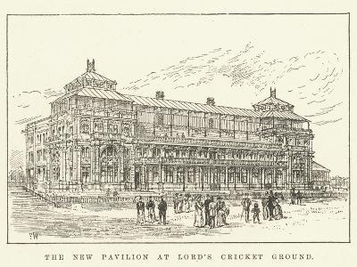 The New Pavilion at Lord's Cricket Ground-Frank Watkins-Giclee Print