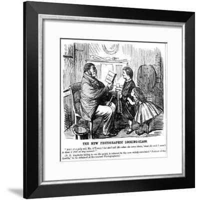 The New Photographic Looking Glass, Cartoon from Punch, Everyday Proof of Man's Origins, 1861--Framed Giclee Print
