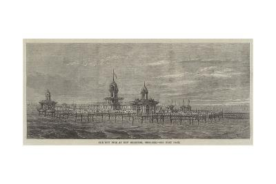 The New Pier at New Brighton, Cheshire--Giclee Print