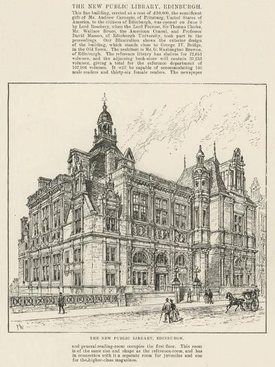 The New Public Library, Edinburgh-Frank Watkins-Giclee Print