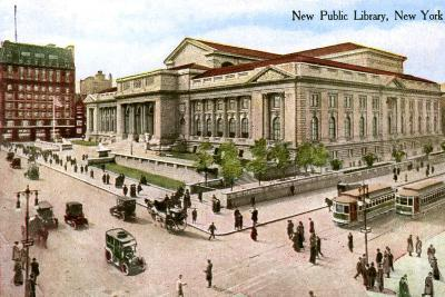 The New Public Library, New York, USA, 1910--Giclee Print