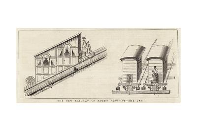 The New Railway Up Mount Vesuvius, the Car--Giclee Print
