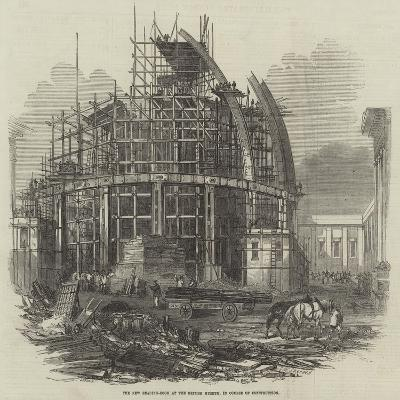 The New Reading-Room at the British Museum, in Course of Construction--Giclee Print