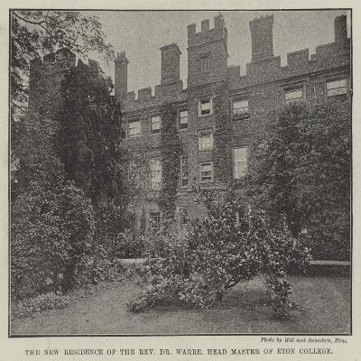 The New Residence of the Reverend Dr Warre, Head Master of Eton College--Giclee Print