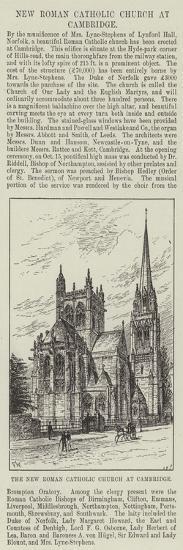 The New Roman Catholic Church at Cambridge-Frank Watkins-Giclee Print