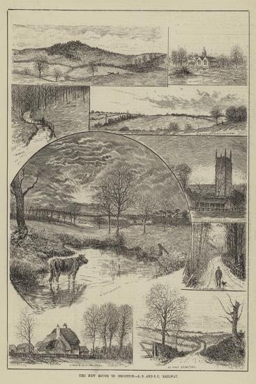 The New Route to Brighton, London Brighton and South Coast Railway--Giclee Print