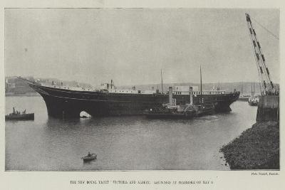 The New Royal Yacht Victoria and Albert, Launched at Pembroke on 9 May--Giclee Print
