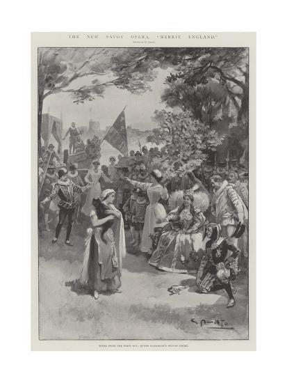 The New Savoy Opera, Merrie England-G.S. Amato-Giclee Print