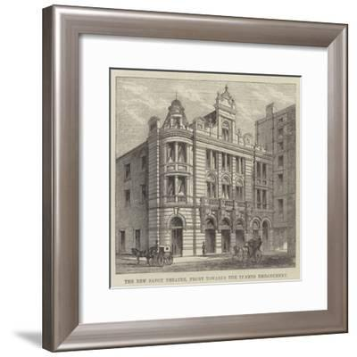 The New Savoy Theatre, Front Towards the Thames Embankment--Framed Giclee Print