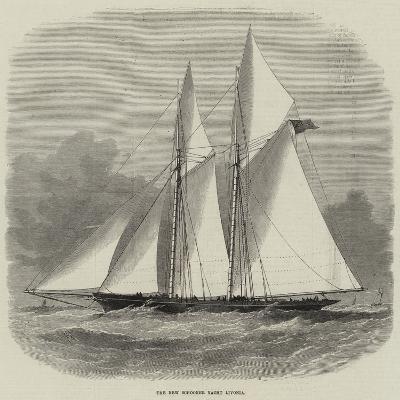 The New Schooner Yacht Livonia-Edwin Weedon-Giclee Print