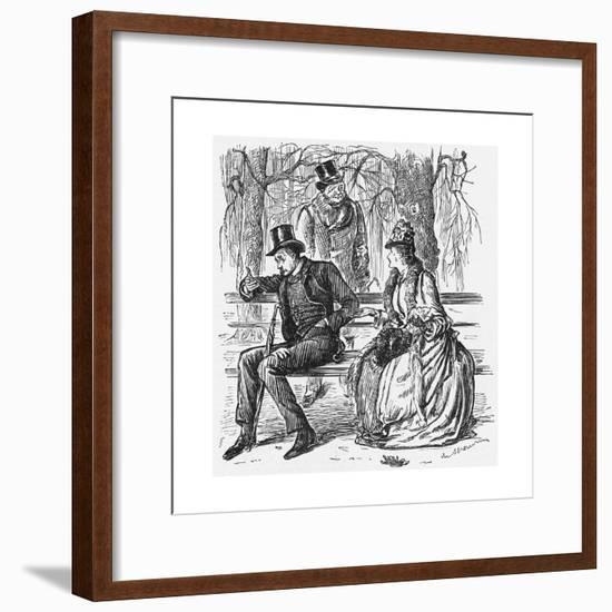 The New Science, 1887-George Du Maurier-Framed Giclee Print