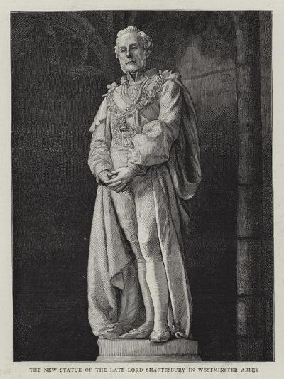The New Statue of the Late Lord Shaftesbury in Westminster Abbey--Giclee Print