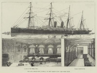 The New Steam-Ship Austral, of the Orient Line--Giclee Print