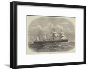 The New Steam-Ship Egypt-Edwin Weedon-Framed Giclee Print