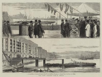 The New Thames Steam Ferry--Giclee Print