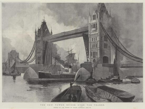 The New Tower Bridge over the Thames, Opened by the Prince of Wales, Saturday, 30 June-Henry Charles Seppings Wright-Giclee Print