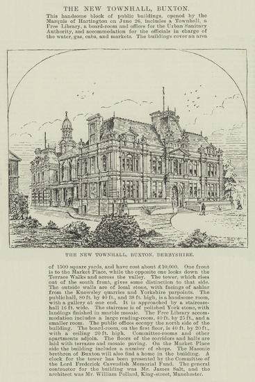 The New Townhall, Buxton, Derbyshire--Giclee Print