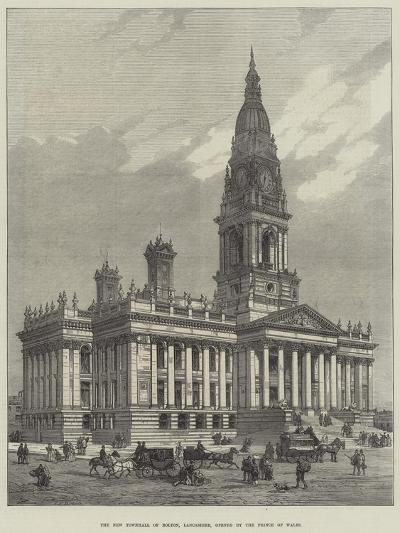 The New Townhall of Bolton, Lancashire, Opened by the Prince of Wales--Giclee Print