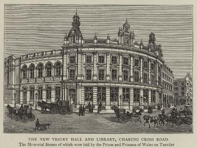 The New Vestry Hall and Library, Charing Cross Road--Giclee Print