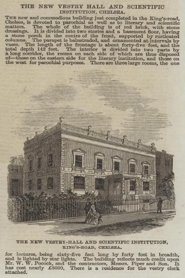 The New Vestry-Hall and Scientific Institution, King'S-Road, Chelsea--Giclee Print