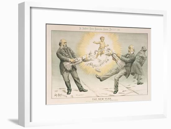 The New Year, from 'St. Stephen's Review Presentation Cartoon', 31 December 1887-Tom Merry-Framed Giclee Print