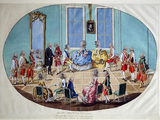 The New Year's Celebration in Vienna in 1782, 1783-Johann Hieronymus Löschenkohl-Giclee Print