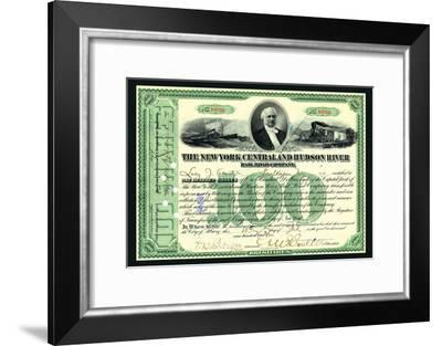 The New York Central and Hudson River Rail Road Company, c.1900--Framed Art Print