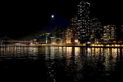 The New York City Skyline Lights Up a December Night-Robbie George-Photographic Print