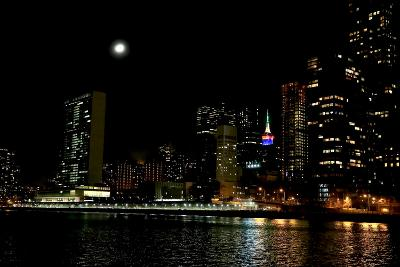 The New York City Skyline Lights Up a December Night-Robbie George-Photographic Print