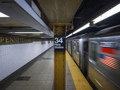The New York City Subway.-Jon Hicks-Photographic Print