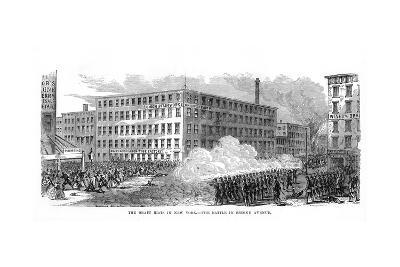 The New York Draft Riots, Second Avenue, New York City, 13-16 July 1863--Giclee Print