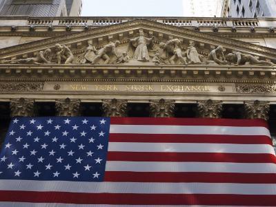 The New York Stock Exchange, Wall Street, Manhattan, New York City, New York, USA-Amanda Hall-Photographic Print