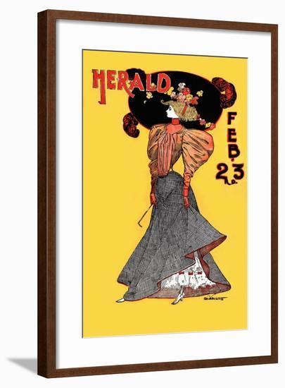 The New York Sunday Herald, Feb. 23rd--Framed Art Print